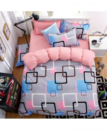 Colorful Grid Classic Pastoral Stylish Bedsheet