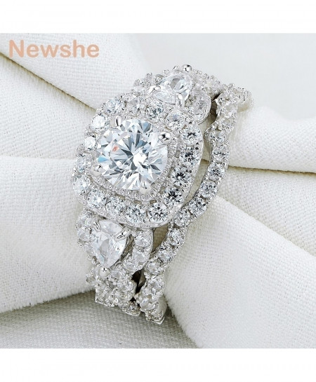 Newshe 925 Sterling Silver Stylish Ring