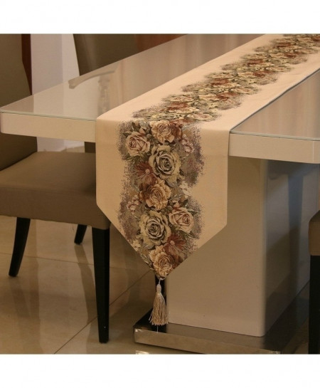 Yellow Proud Rose American Table Runner 32x210cm