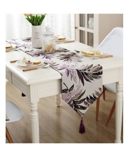 Colorful Leaves Jacquard Table Runner 32x220cm