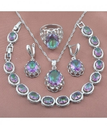 Unique Design Rainbow Zirconia Jewelry Set