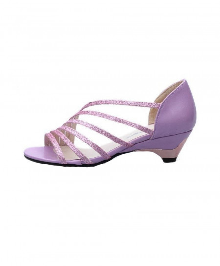 SAGACE Purple Elegant Open Toe Low Wedges Sandals