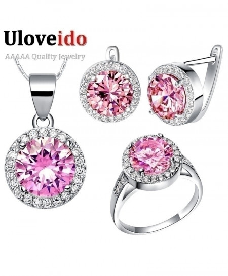 Uloveido Crystal African Costume Jewelry Set
