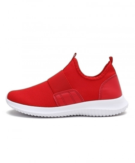 COOLVFATBO Red Stylish Slip On Casual Shoes