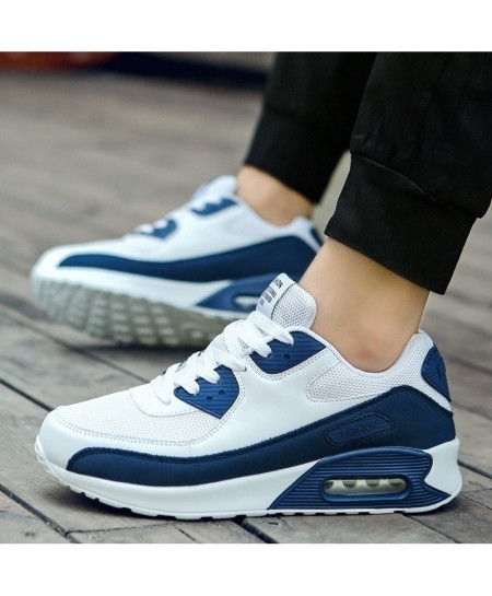 Blue Lace-up Breathable Drop Casual Shoes