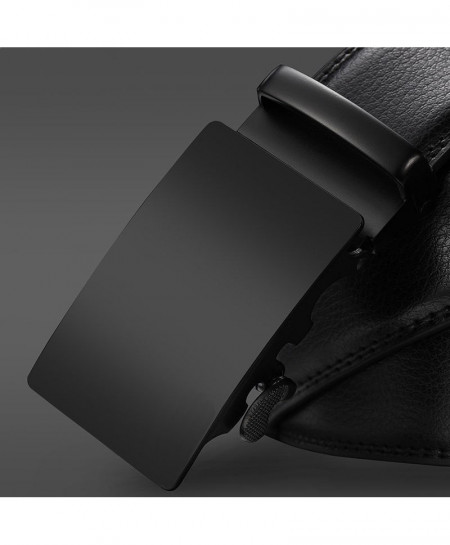 NO.ONEPAUL Black Plain Buckle Stylish Buckle Belt