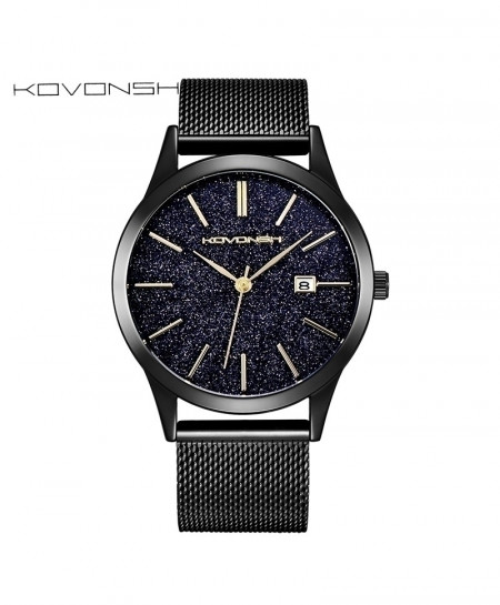 KOVONSH Mesh Belt Band Stylish Watch