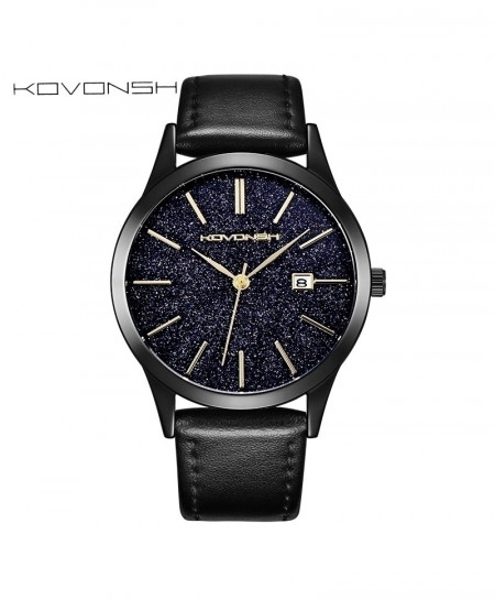 KOVONSH Genuine Leather Belt Stylish Watch