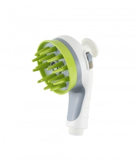 Pet Shower White Head Bath Massage Brush