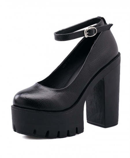 Black Casual Stylish High Heel Pumps