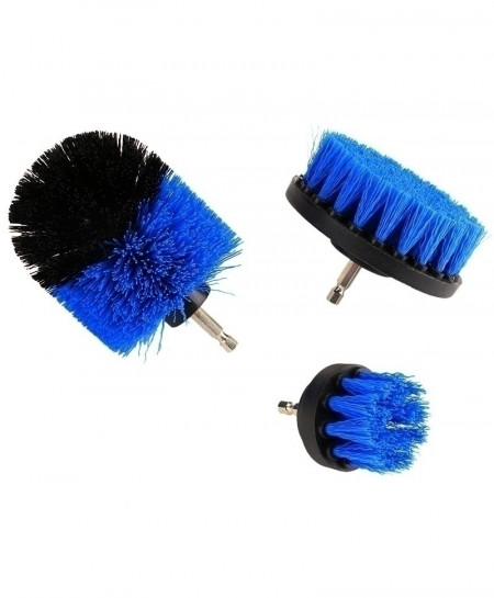 Blue Power Scrubber Drill Brush Cleaner 3 pc (Drill Not Included)