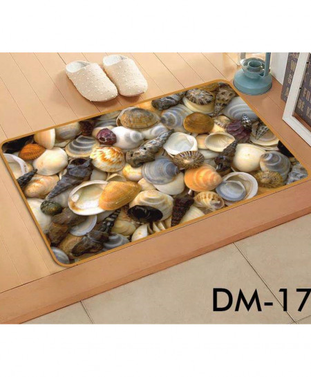 Multicolor Sea Shells Printed Non-Slip Bath Mat SN-17