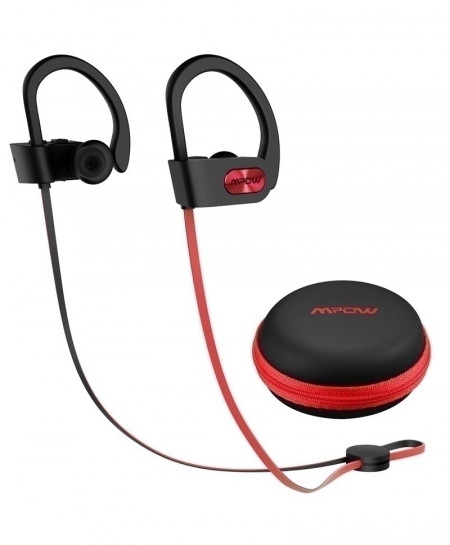 Mpow Red Flame Waterproof Bluetooth Stereo Earphone