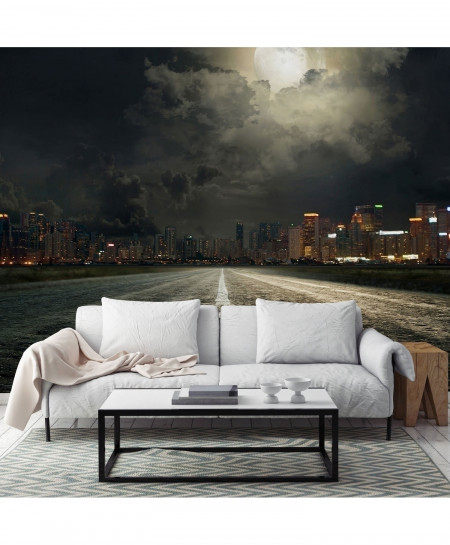 3D Moonlit City Wallpaper BNS-328