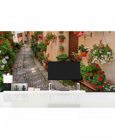 3D Flowers Street Wallpaper BNS-344