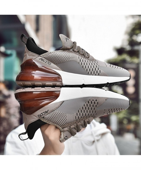 KEEP RUNNING Brown Comfortable Sports Running Shoes