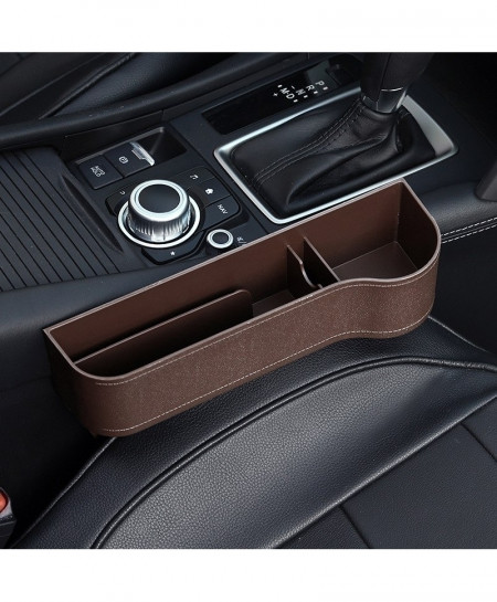 Audew Brown Right Car Seat Crevice Gaps Storage Box