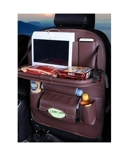 DEFOE Brown Dining Rack Car Seat Storage Bag