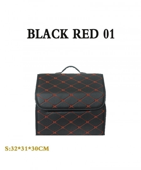 Black Red Car trunk Heavy PU leather Stowing Tidying