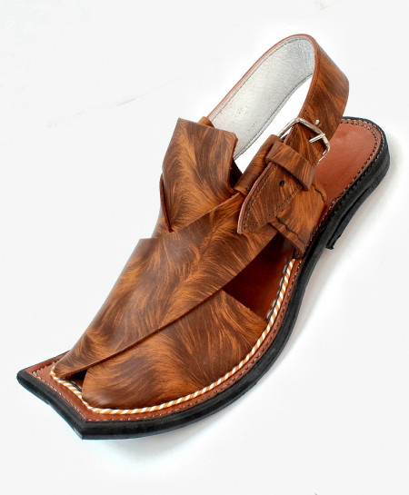Brown Stitched Stylish Peshawari Sandal AK-2828