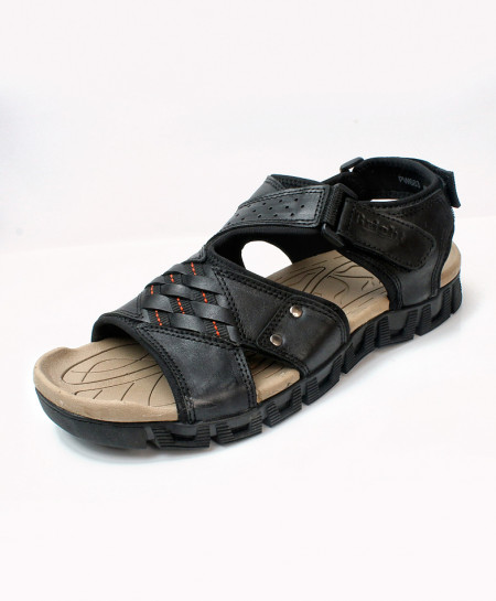 Black Cross Stylish Design Casual Sandal DR-710