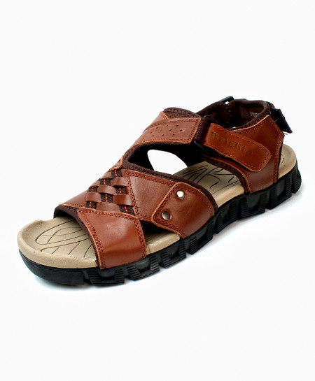 Brown Cross Design Casual Sandal DR-713