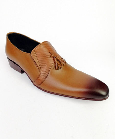 Mustard Brown All Leather Shoes LC-360