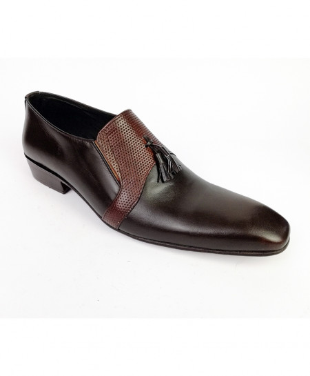 Dark Brown All Leather Shoes LC-364