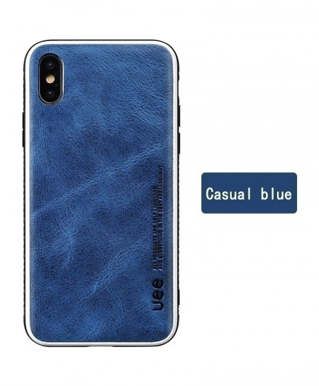 LANGSIDI Casual Blue Leather Shock Resistance Protective Case