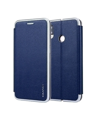 VISEAON Royal Blue Leather Magnetic Flip Wallet Case