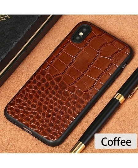 LANGSIDI Coffee Leather Explosion-Proof iPhone case