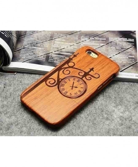 LYBALL Clock Wooden Phone Case For iPhone