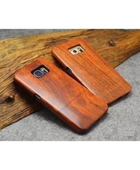 LYBALL Plain Wooden Phone Case Bamboo Hard Cover