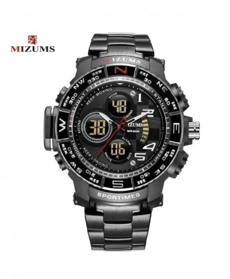 Mizums Black Waterproof Led Digital Quartz Watch
