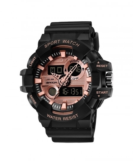 SANDA Black Military Waterproof Quartz Watch