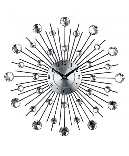 Vintage Metal Diamond Art Wall Clock