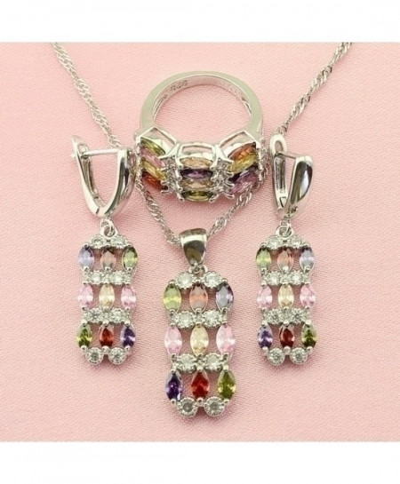 Exquisite Multicolor Crystal Cubic Zirconia Jewelry Set