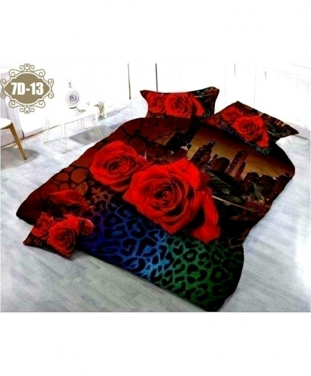 7D City Scenery Floral Digital Printed Bedsheet SN-13