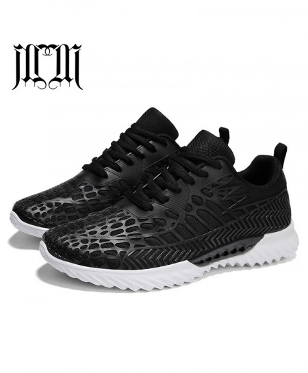 MUMUELI Black Breathable Casual Shoes