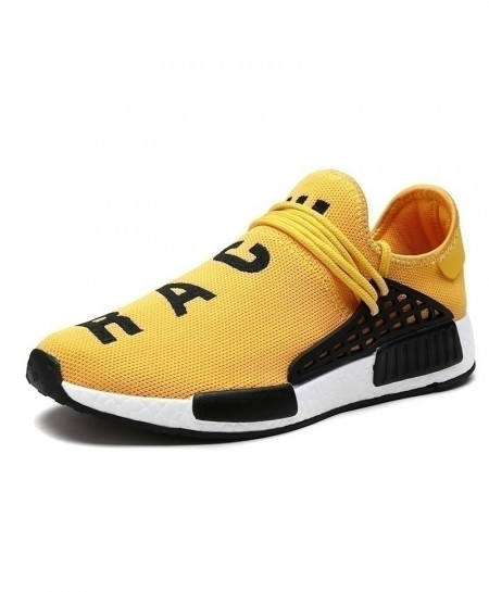 BONJEAN Yellow Air Mesh Classical Sport Shoes