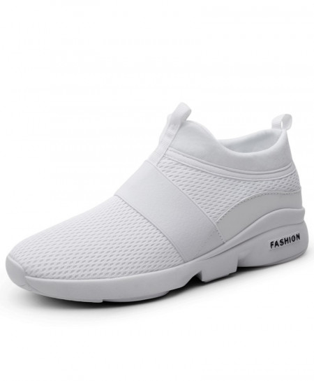 AILONGKA White Lightweight Breathable Mesh Casual Shoes