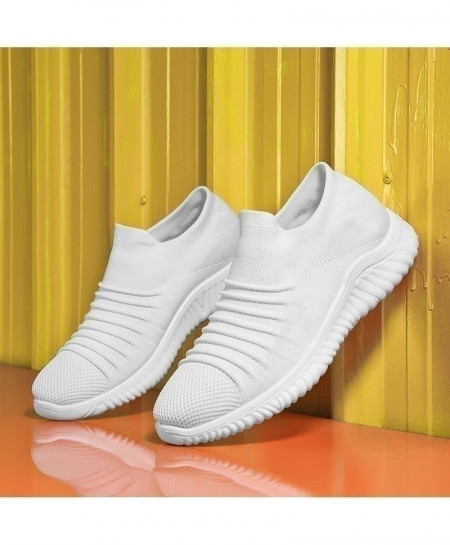 CONMEIVE White Breathable Anti-Odor Casual Shoes