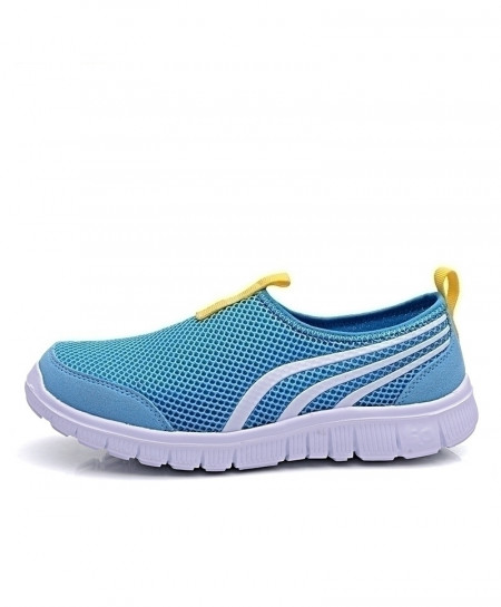 JIASHA Blue Breathable Slip on Athletic Sport Shoes