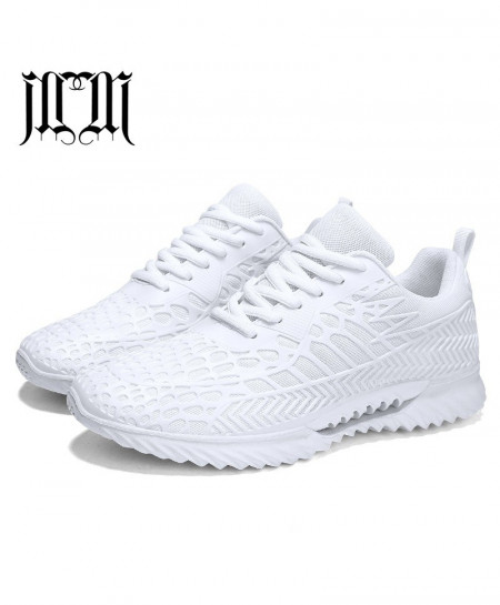 MUMUELI White Breathable Casual Shoes