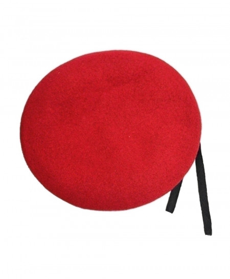 Red Outdoor Breathable Pure Wool Beret Hat