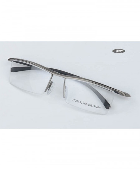 XINZE Gray Titanium Optical Half Frame