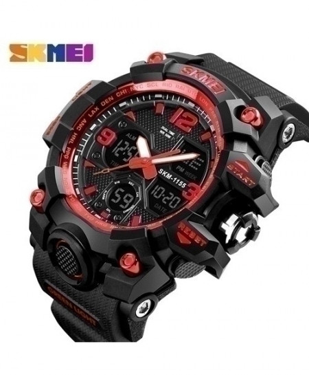 SKMEI Red Style Waterproof Casual Military Wrist Watch