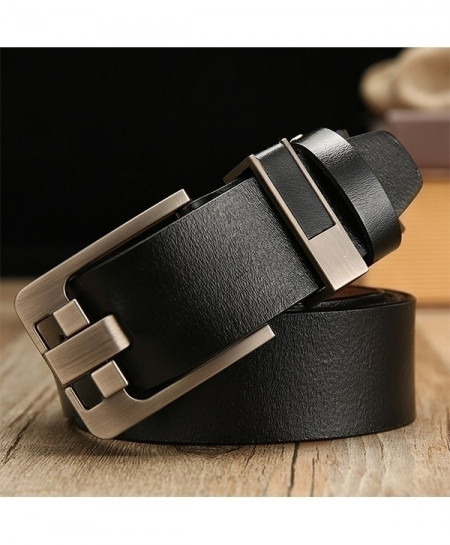 Black Leather Strap Pin Stylish Buckle Belt
