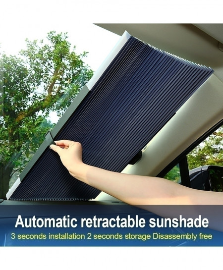 65cm Car Window Sunshade Retractable Foldable Windshield Sunshade Cover