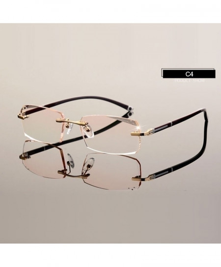 HOTOCHKI Eyeglasses Diamond Cutting Rimless Optical Frame